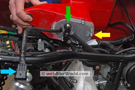 Ducati GT1000 fuel tank removal