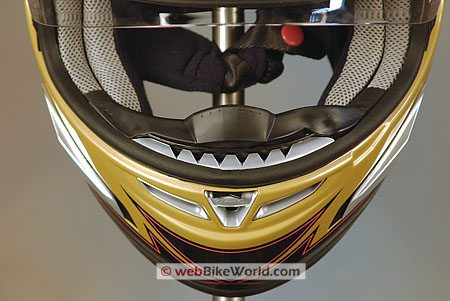 KBC Force RR Helmet - Chin vents