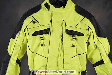 Olympia Phantom One Piece Motorcycle Riding Suit - Chest and Front Pockets
