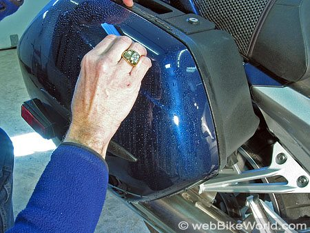Applying the Tankslapper Motorcycle Paint Protection Kit