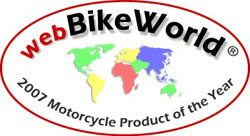 webBikeWorld.com 2007 Motorcycle Product of the Year