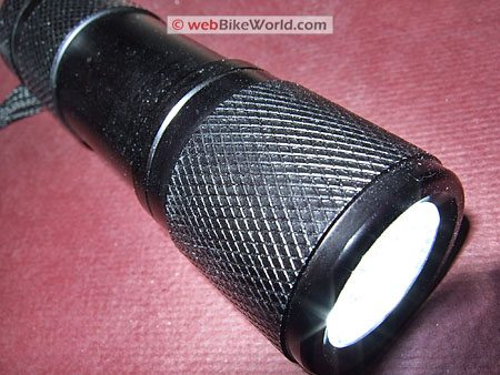 Gordon Harbor Freight LED Flashlight - Close-up of Knurling