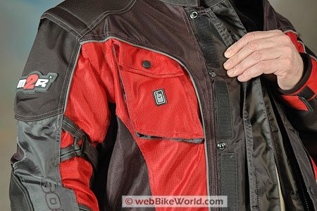 Made2Race M2R Rally Cross Jacket - Front Cell Phone Pocket