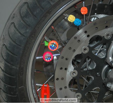 Spiffy Spokes on wheel
