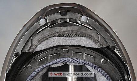 HJC FS-MAX - Showing underside of raised visor