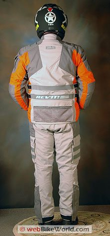 Revit Off Track Jacket and Dakar Pants - Rear View