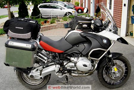 Marsee ZIPP Bag - Mounted on BMW R1200GS