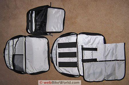 Marsee ZIPP Bag - Interior of detachable bags