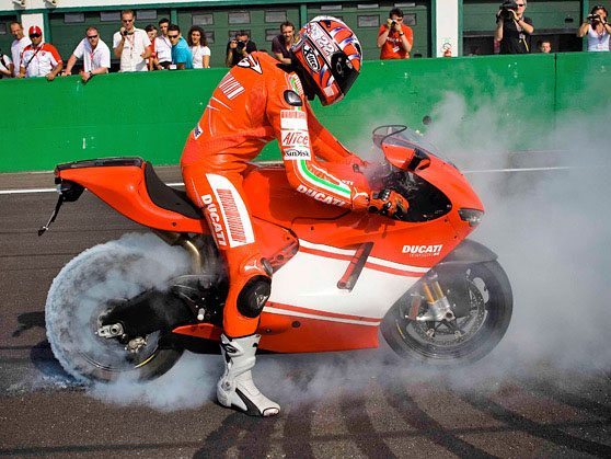 Ducati Desmosedici Burnout