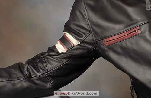 "Furygan ""Fighter"" Leather Motorcycle Jacket - Arm and Shoulder"