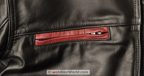 "Furygan ""Fighter"" Leather Motorcycle Jacket - Zipper Close-up"