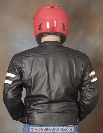 "Furygan ""Fighter"" Leather Motorcycle Jacket - Rear View"