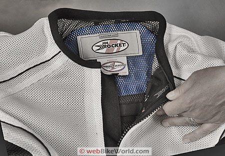 Joe Rocket Phoenix 4.0 Jacket - Collar and Zipper