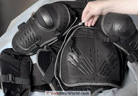 Juggernaut Motorcycle Armor - Front View, Chest and Zipper
