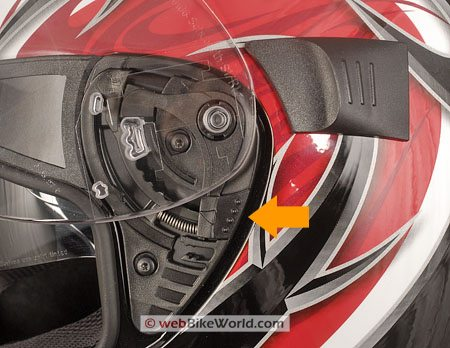 SCHUBERTH R1 - Visor Removal Mechanism