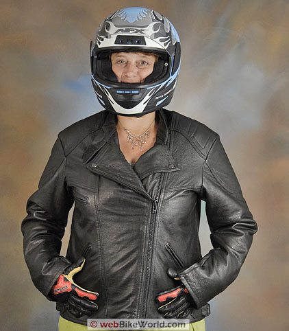 Women's Deerskin Motorcycle Jacket - Front Open