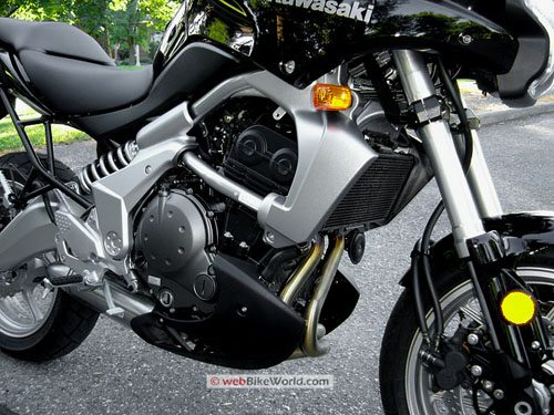 Kawasaki Versys - Engine and Right Quarter View