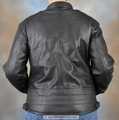 Women's Deerskin Motorcycle Jacket - Rear View