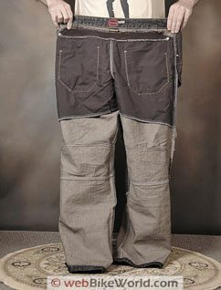 SHIFT Lodown Motorcycle Jeans - Kevlar Lining, Rear