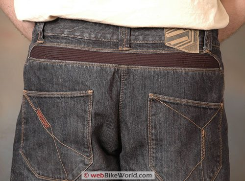 SHIFT Lodown Motorcycle Jeans - Rear Belt and Waist