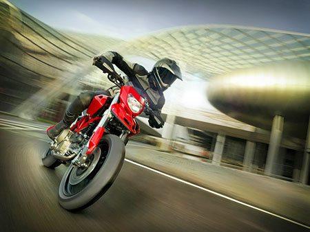Ducati Hypermotoard and Rider