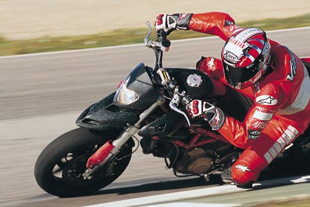 Ducati Hypermotard on the Track