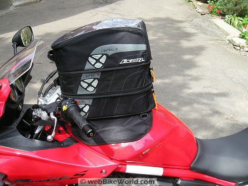 Ixon X Pand Tank Bag - Fully Expanded