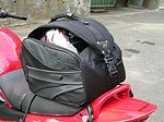Rapid Transit Motorcycle Tail Bag - Rear View