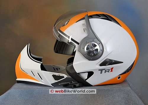 Airoh TR1 Motorcycle Helmet - Removable Chin Guard and Internal Sun Shade