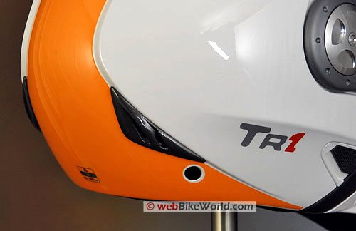 Airoh TR1 Motorcycle Helmet - Rear Exhaust Vent