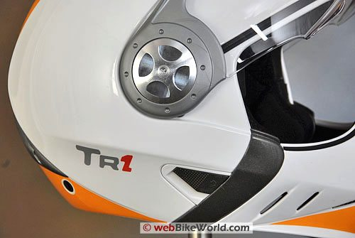 Airoh TR1 Motorcycle Helmet - Visor Rotating Mechanism