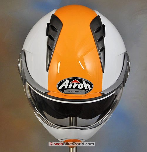 Airoh TR1 Motorcycle Helmet - Top View and Vents