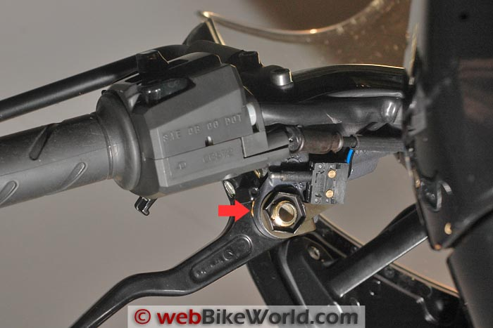 Underside of Original Equipment Clutch Lever Assembly