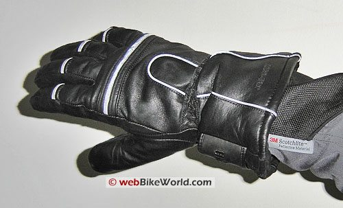 Olympia Gore-Tex All-Season Motorcycle Gloves - Top View