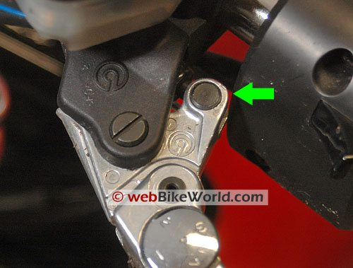 Clutch Lever Rotating Pin - Close-up