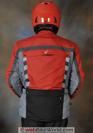 Joe Rocket Ballistic 7.0 Jacket - Rear View