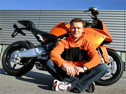 Stefan Nebel, KTM RC8 Test Rider