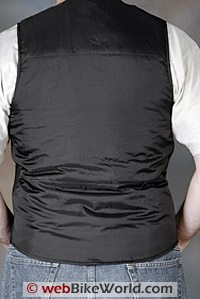 Tourmaster Synergy Heated Vest - Rear View