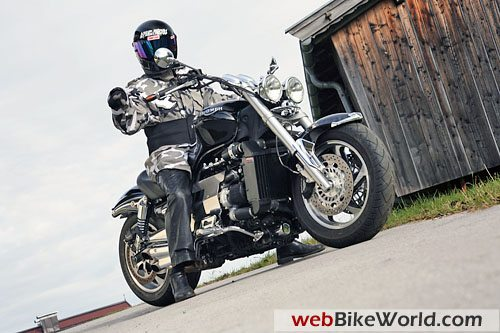 Triumph Rocket 3 Turbo and Rider
