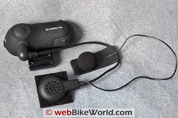 Interphone Motorcycle Bluetooth Intercom Comfort Kit