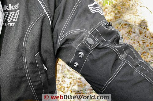 Rukka Sapphire Women's Motorcycle Jacket - Sleeve and Adjusters