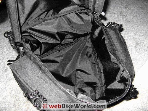 Luggage Locker Elite Seat Sack Motorcycle Tail Bag - Interior