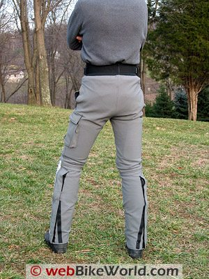 Cycleport Police Kevlar Pants - Rear View
