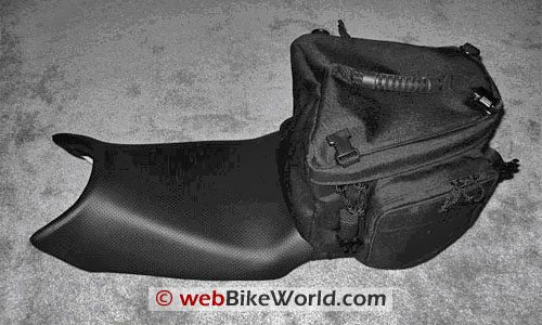 Luggage Locker Elite Seat Sack Motorcycle Tail Bag - On Seat