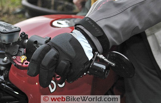 Warmthru Battery Heated Gloves - On the Motorcycle