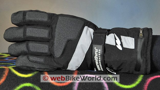Warmthru Battery Heated Gloves - Back Side