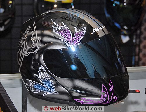 Akuma women's flip-up helmet