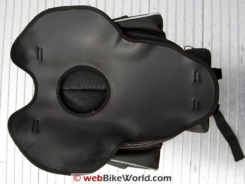 FAMSA 260 Tank Bag and Panniers - Bottom View, Tank Pad