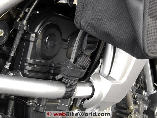 FAMSA 260 Tank Bag and Panniers - Mounting Close-up