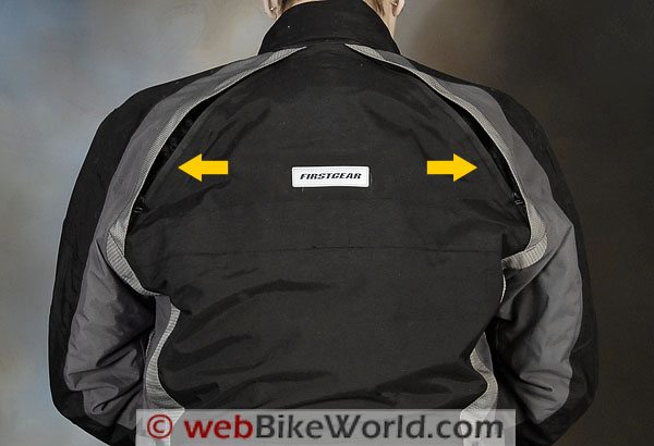 Firstgear TPG Rainier Jacket - Rear Vent